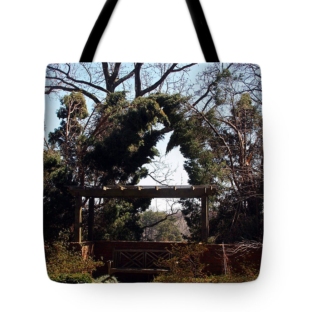 Alcove Tote Bag featuring the photograph Let's Cop A Squat by Carolyn Stagger Cokley