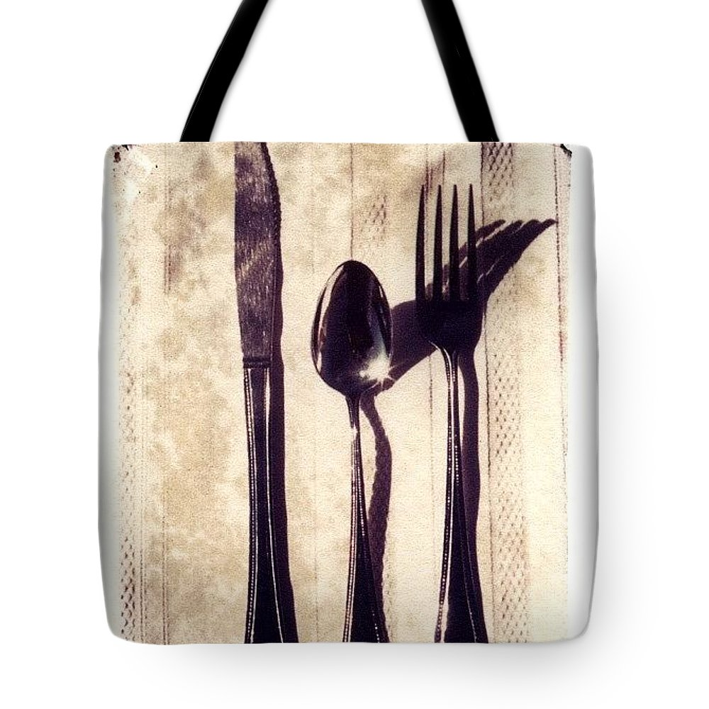 Forks Tote Bag featuring the photograph Lets Eat by Jane Linders