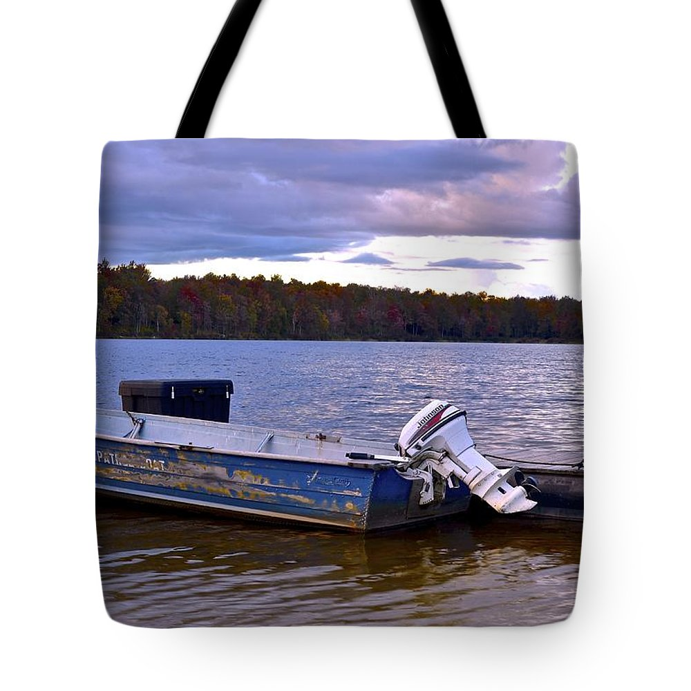 Gone Tote Bag featuring the photograph Lets Go Fishing by Frozen in Time Fine Art Photography
