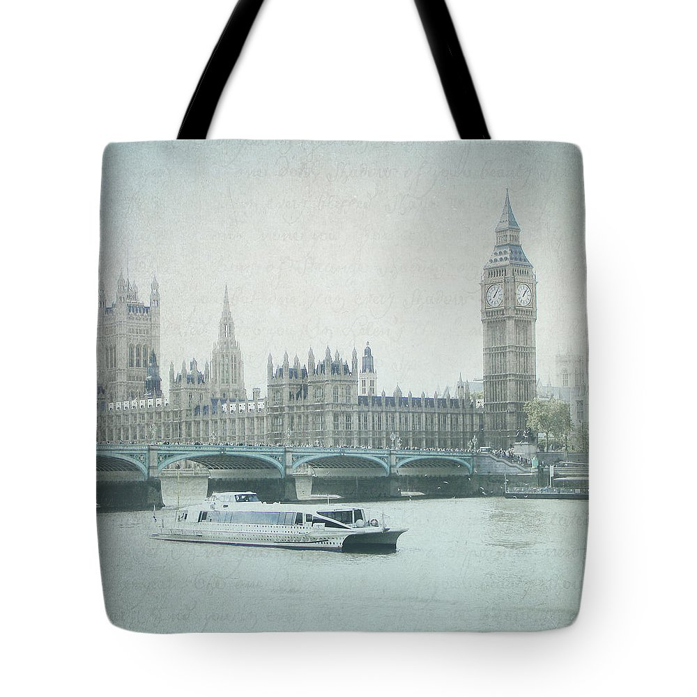 Photography Tote Bag featuring the photograph Letters From The Thames - London by Lisa Parrish
