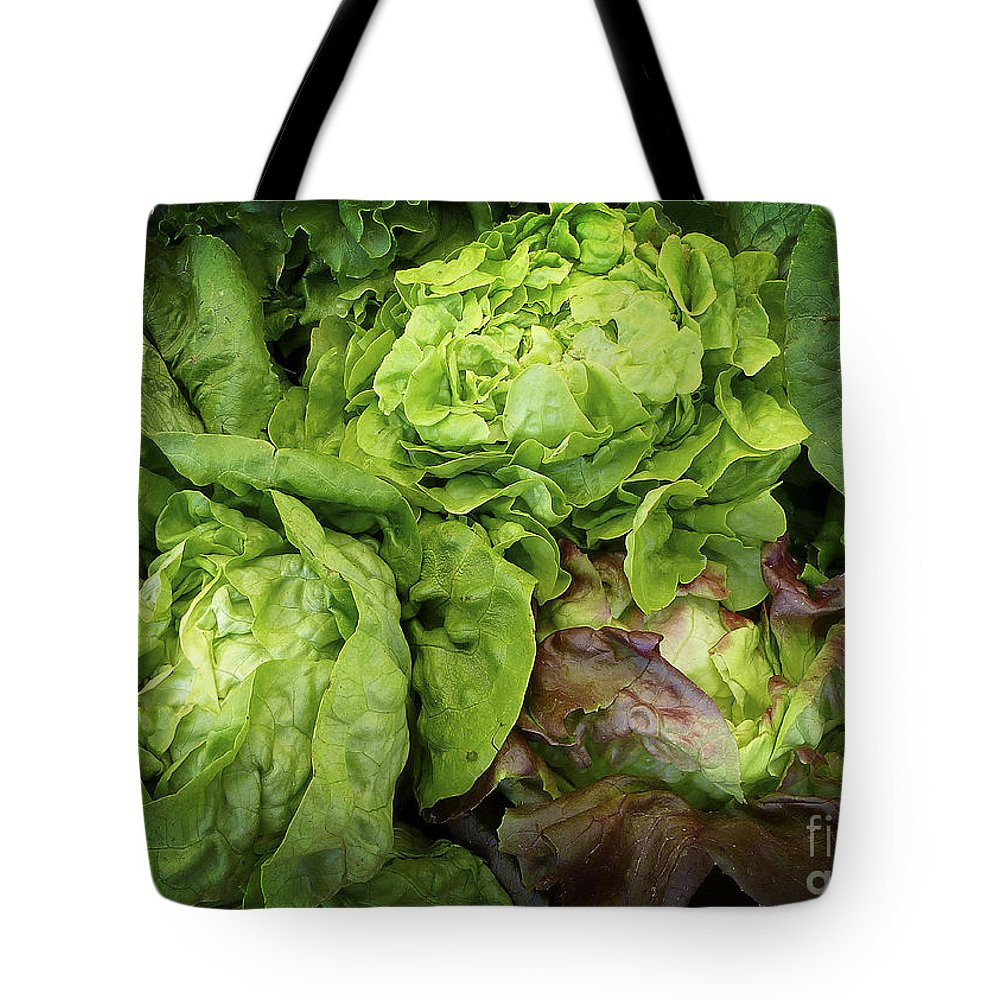 Lettuce Tote Bag featuring the digital art Lettuce Go Forward by Dee Flouton