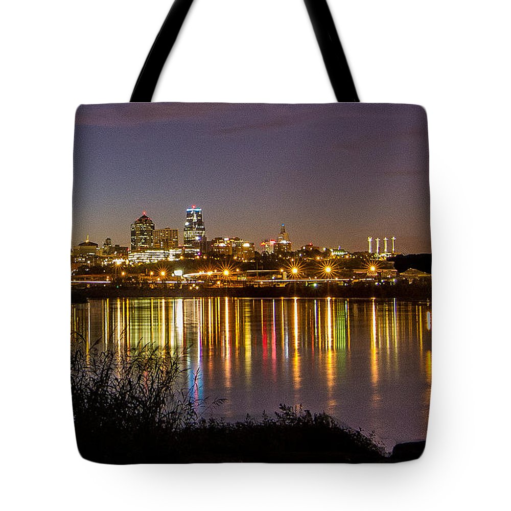 Kansas City Tote Bag featuring the photograph Lewis And Clark by Ken Kobe