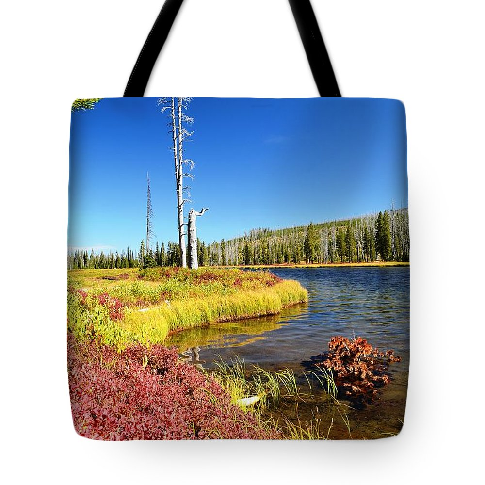 Fall Tote Bag featuring the photograph Lewis River Fall by Deanna Cagle