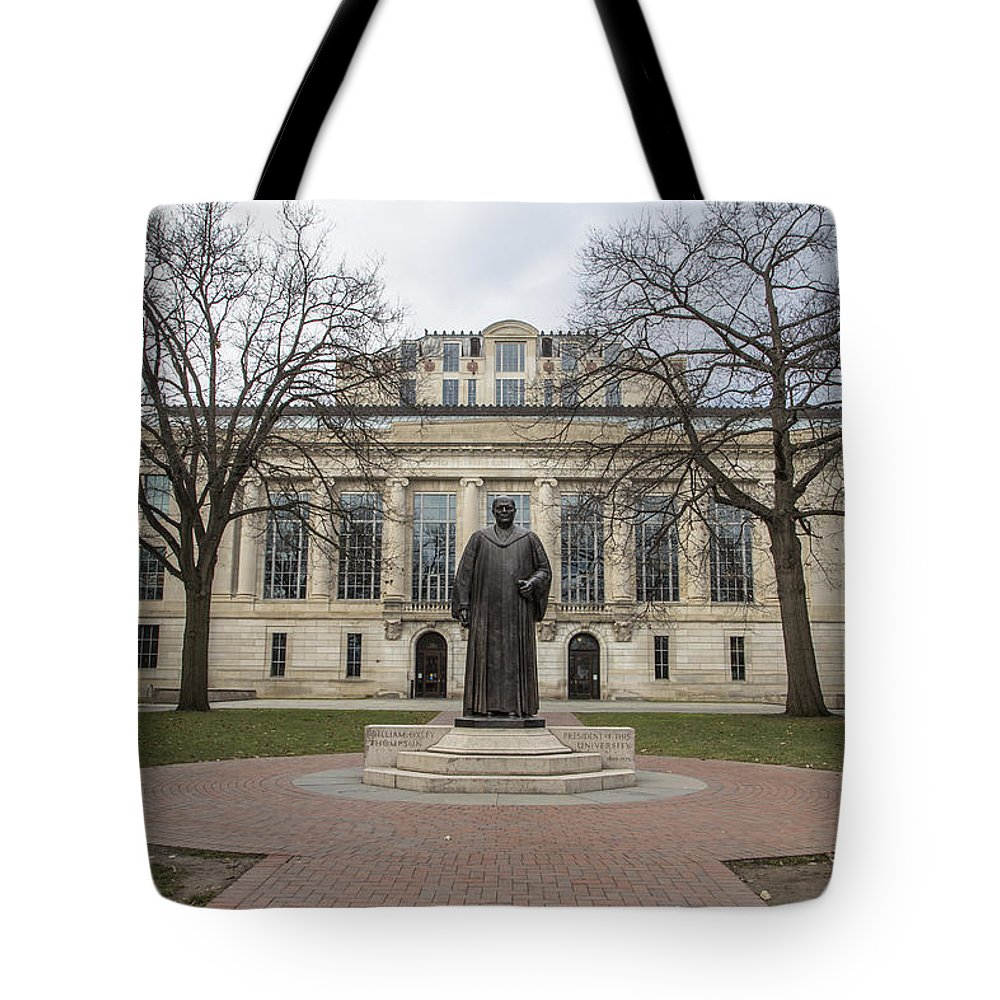 Ohio State University Tote Bag featuring the photograph Library Ohio State University by John McGraw