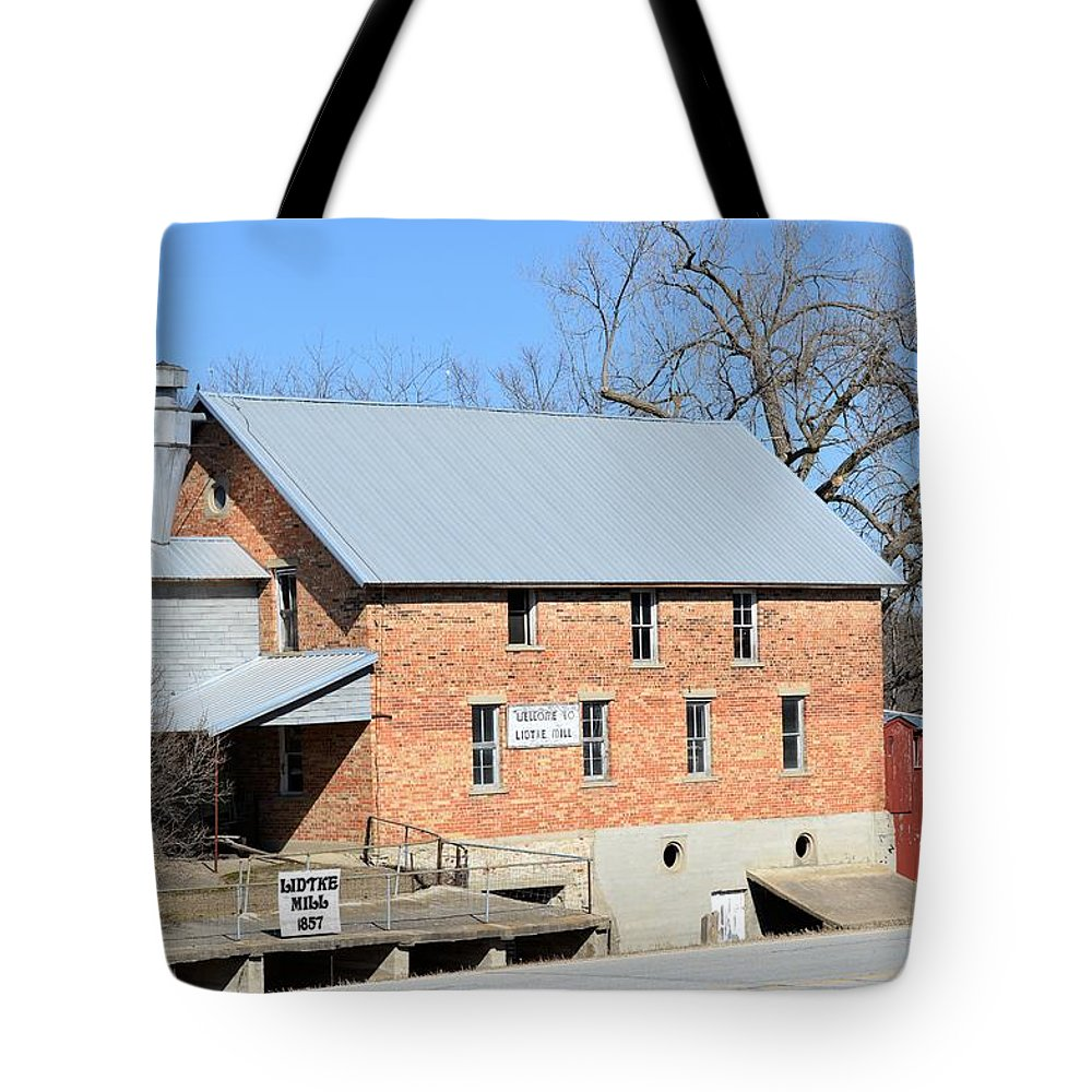 Lidtke Mill Tote Bag featuring the photograph Lidtke Mill by Bonfire Photography