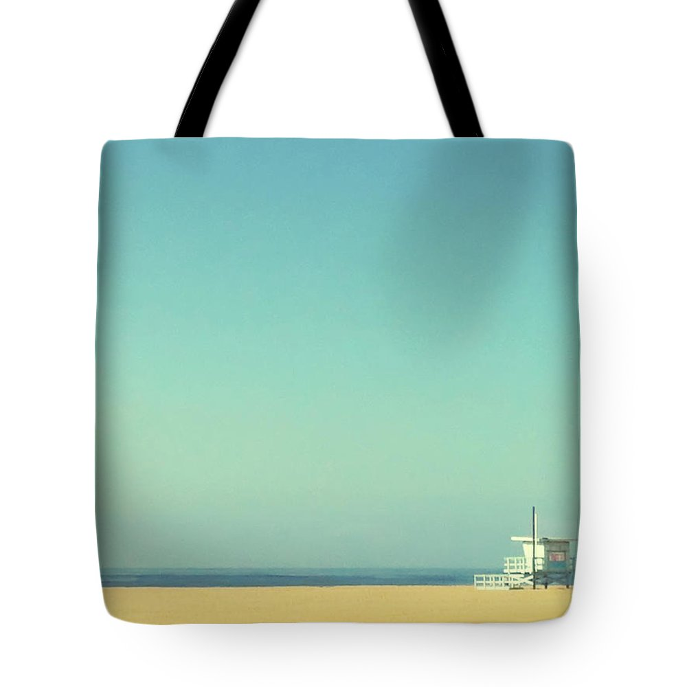 Tranquility Tote Bag featuring the photograph Life Guard Tower by Denise Taylor
