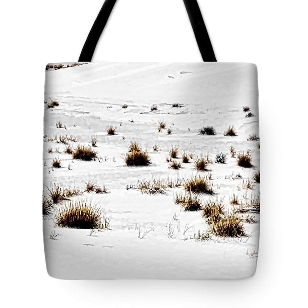 Digital Clone Painting Tote Bag featuring the digital art Life Hangs On by Tim Richards