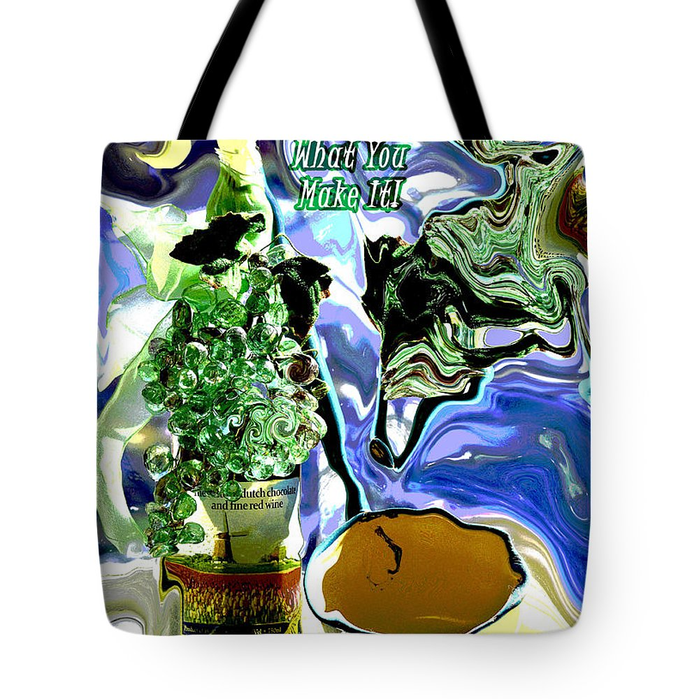 Abstract Tote Bag featuring the photograph Life Is What You Make It Card by Linda Cox