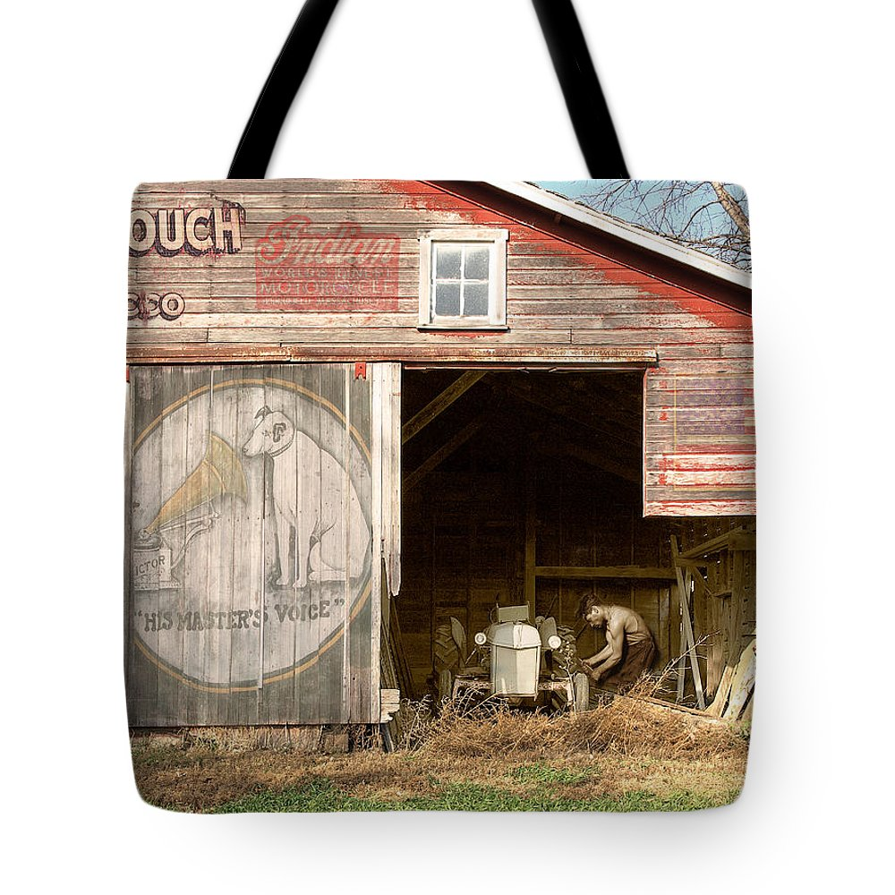 Farm Tote Bag featuring the photograph Life On The Farm by John Anderson
