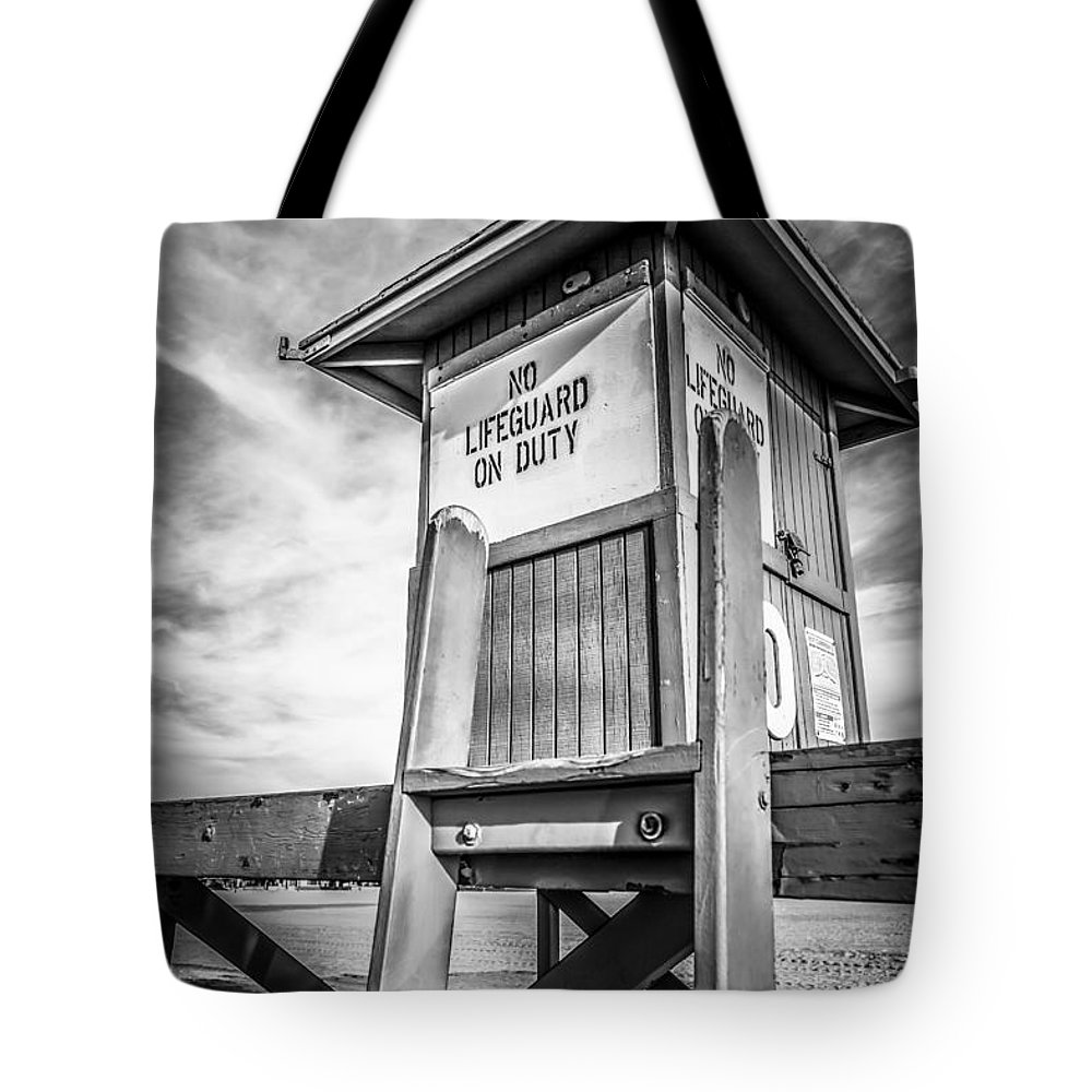 America Tote Bag featuring the photograph Lifeguard Tower 10 Newport Beach Hdr Picture by Paul Velgos