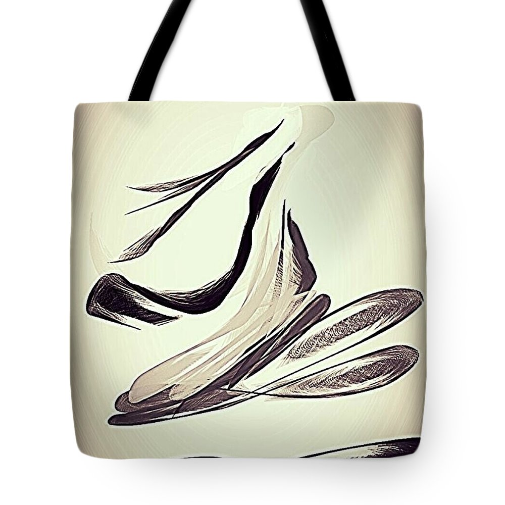Flying Carpet Tote Bag featuring the digital art Lifted by Pamela Blayney