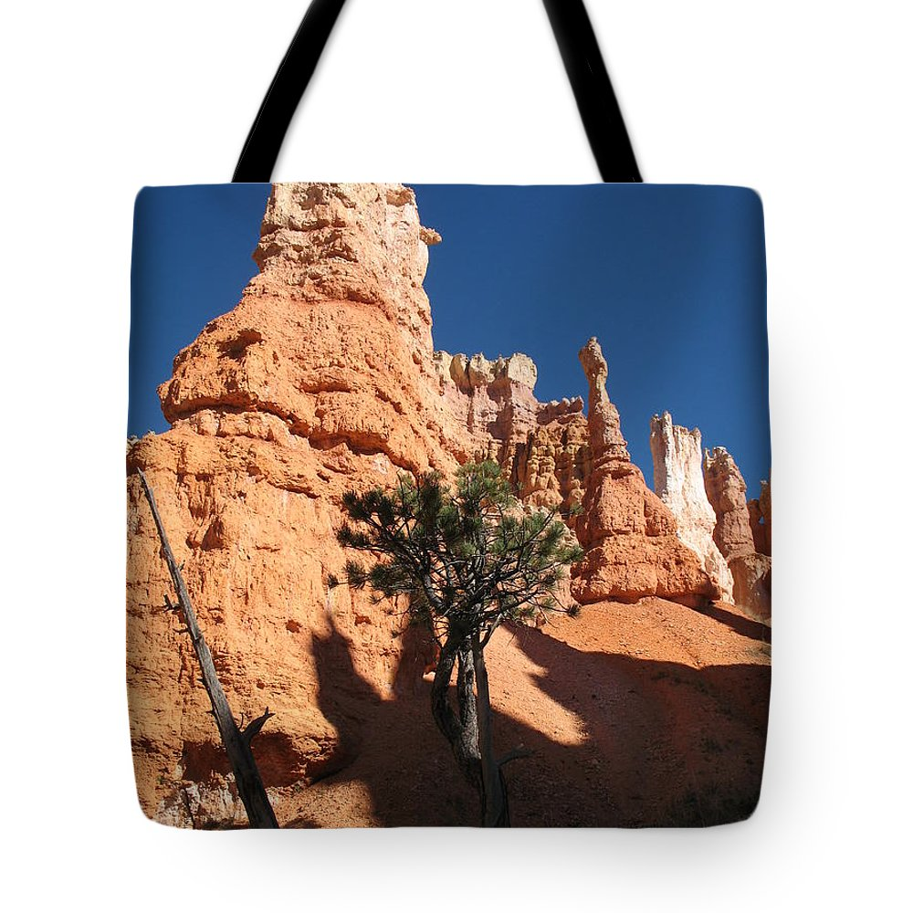 Light Tote Bag featuring the photograph Light And Shadow In The Bryce Canyon by Christiane Schulze Art And Photography