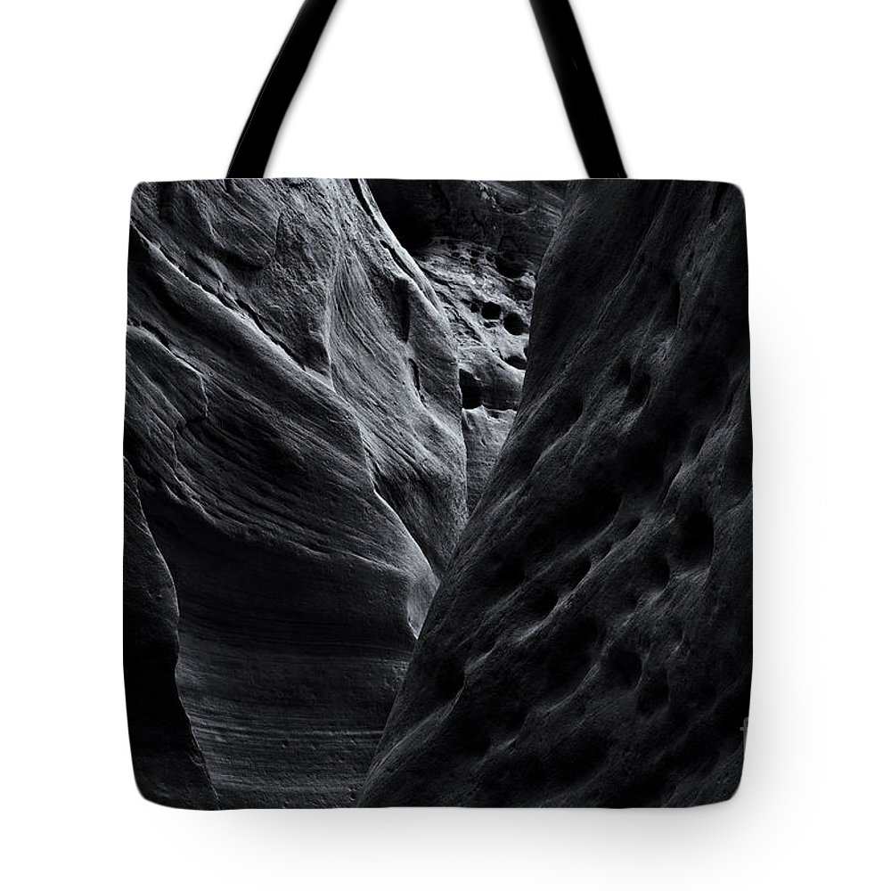 Slot Canyon Tote Bag featuring the photograph Light And Texture by Mike Dawson
