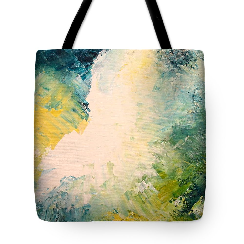 Contemporary Abstract Art Tote Bag featuring the painting Light Becomes Life by Mark Beach