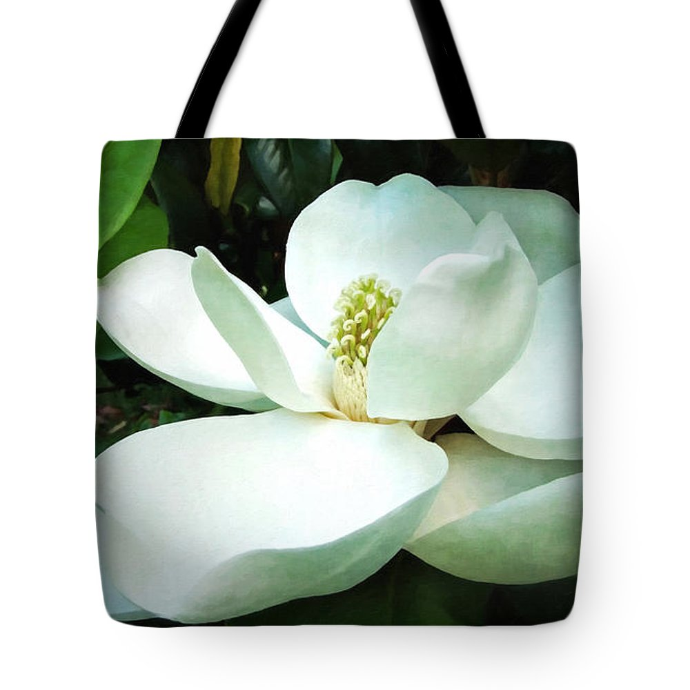 Flower Tote Bag featuring the digital art Light In The Darkness by Lianne Schneider