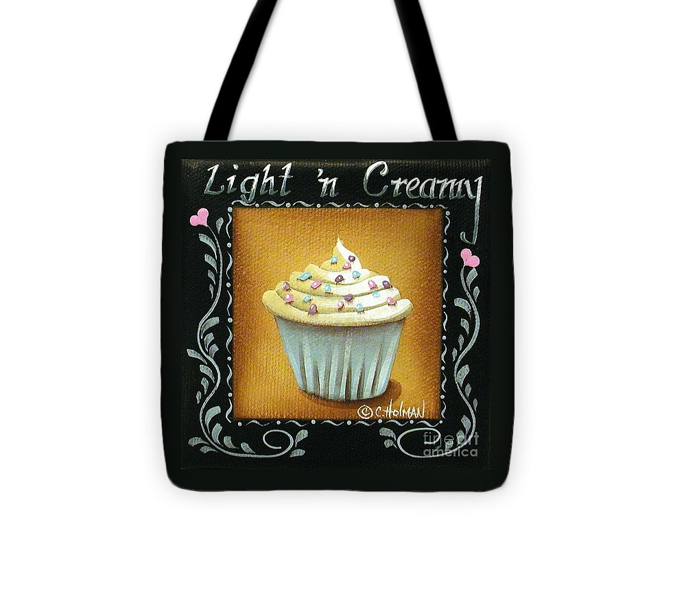 Art Tote Bag featuring the painting Light 'n Creamy by Catherine Holman
