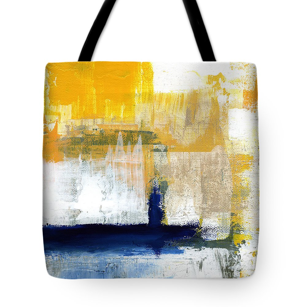 Abstract Tote Bag featuring the painting Light Of Day 4 by Linda Woods
