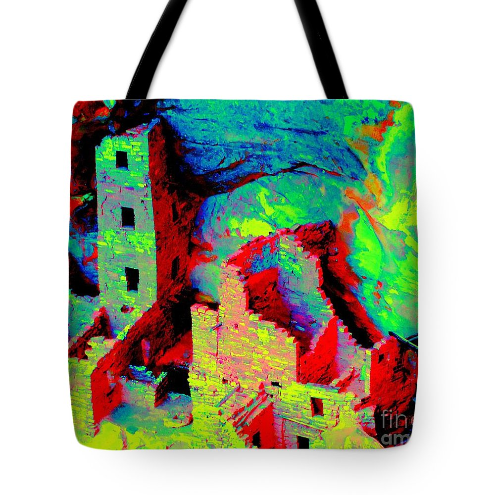 Ancient Tote Bag featuring the photograph Light Of The Ancients by Ann Johndro-Collins