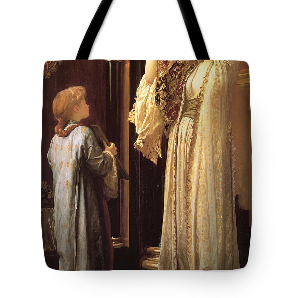 Frederic Tote Bag featuring the painting Light Of The Harem by Frederic Leighton