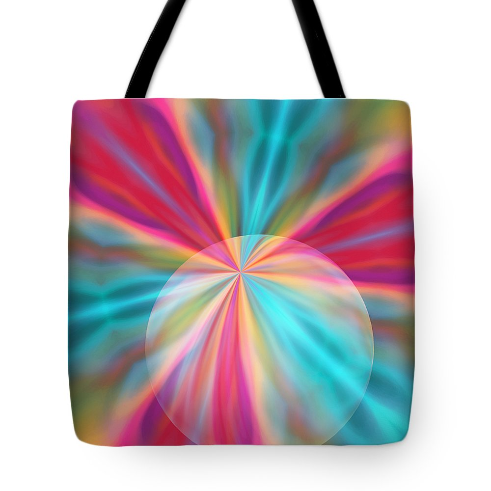 Light Tote Bag featuring the digital art Light Spectrum 1 by Angelina Tamez