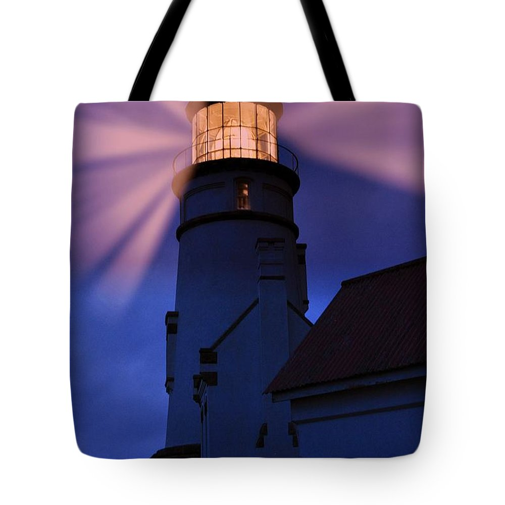 Heceta Head Tote Bag featuring the photograph Light Up The Ocean And Sky by Image Takers Photography LLC - Laura Morgan