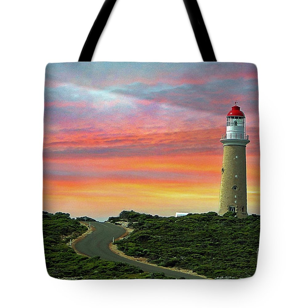 Landscape Tote Bag featuring the photograph Lighthouse 2 by Ben Yassa