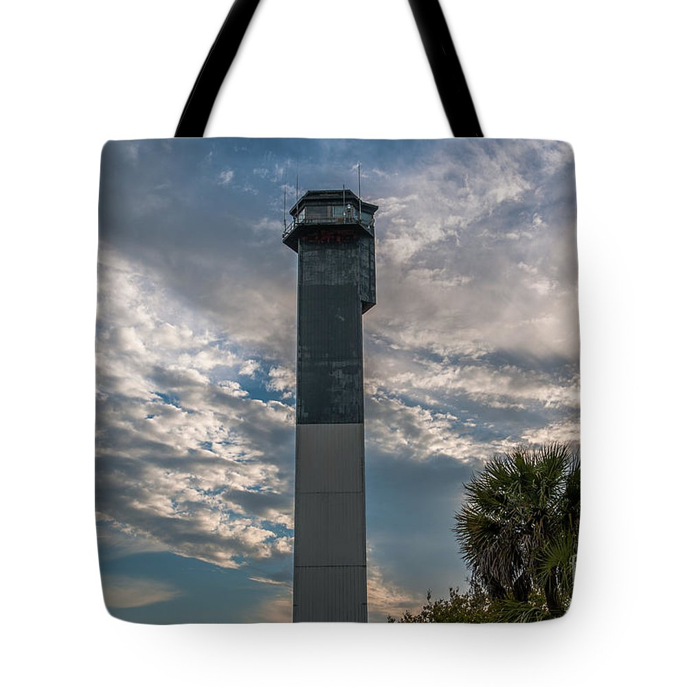 Sullivan's Island Lighthouse Tote Bag featuring the photograph Lighthouse by Dale Powell