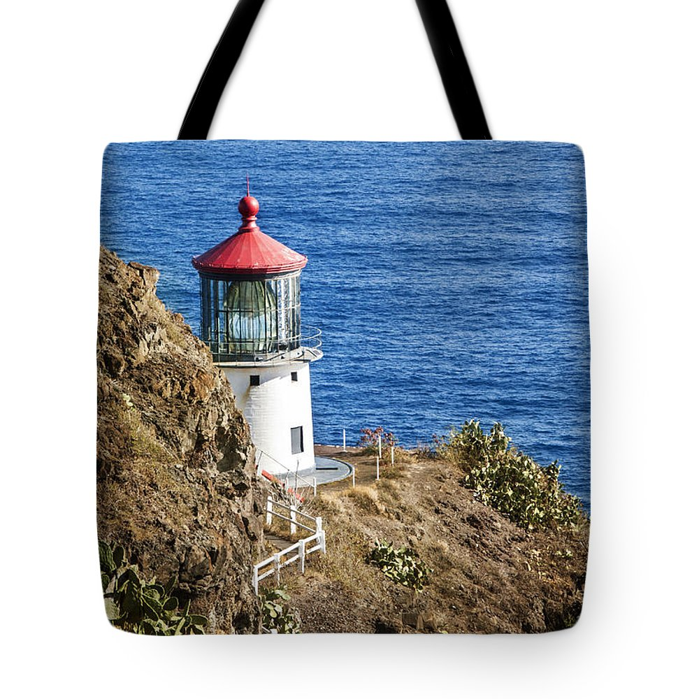 Pacific Ocean Tote Bag featuring the photograph Lighthouse by Juli Scalzi