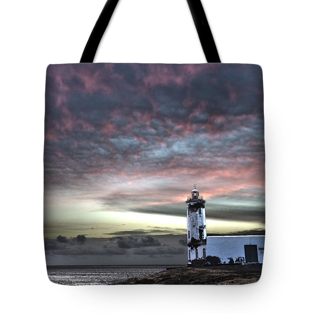 Acting Tote Bag featuring the photograph Lighthouse Maria Pia by Alexander Manykin