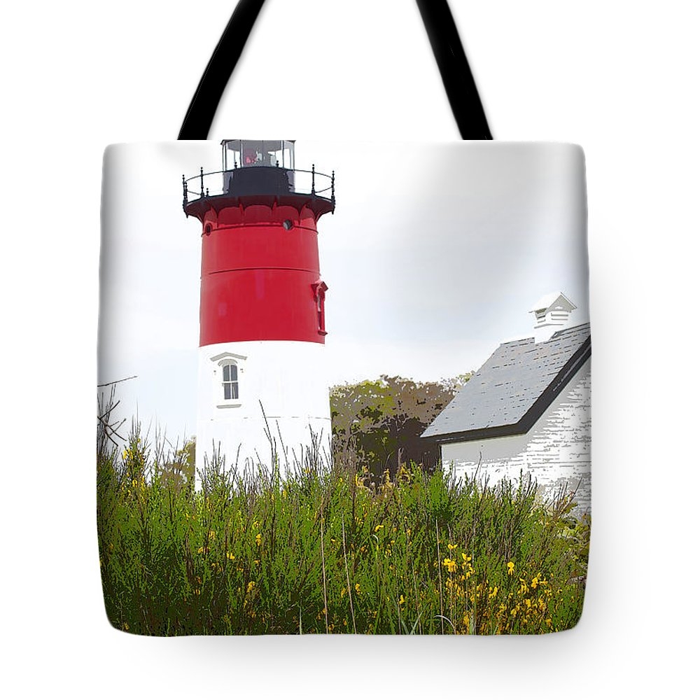 Nauset Light Tote Bag featuring the photograph Lighthouse Of Memories by Michelle Constantine