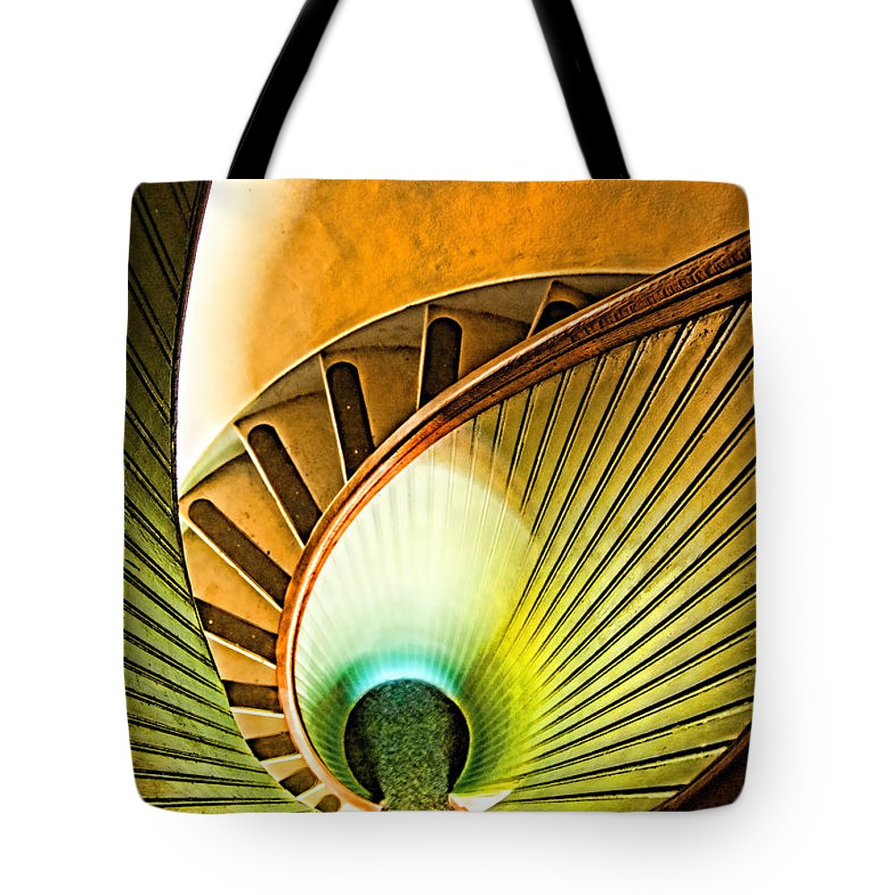 Point Loma Tote Bag featuring the photograph Lighthouse Stairway - Point Loma San Diego by Jon Berghoff
