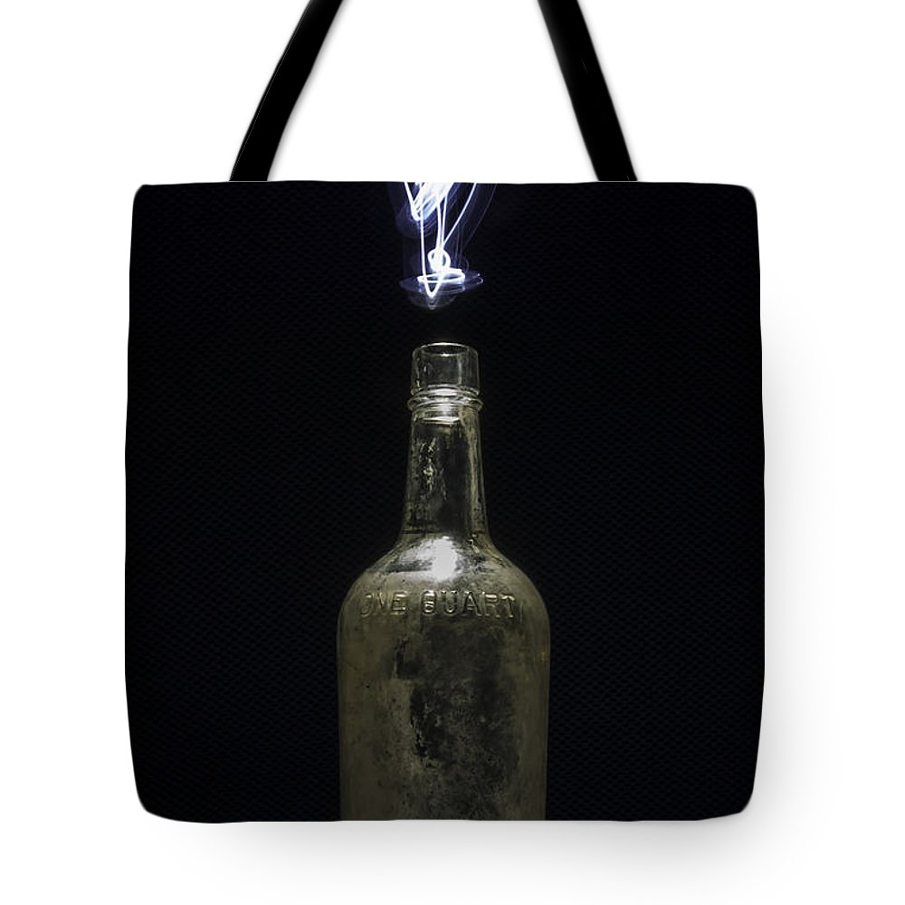 Abstracts Tote Bag featuring the photograph Lighting By The Quart - Light Painting by Steven Milner