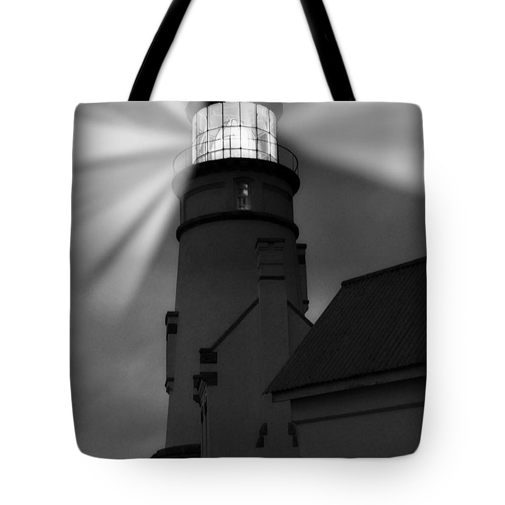 Heceta Tote Bag featuring the photograph Lighting Effects by Image Takers Photography LLC - Laura Morgan