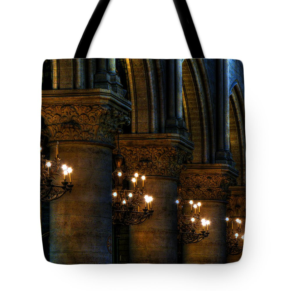 Candles Tote Bag featuring the photograph Lighting The Way by Douglas J Fisher