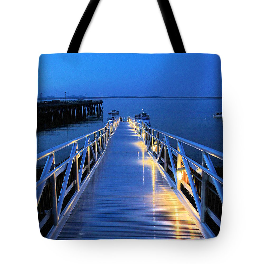 Boat Ramp Tote Bag featuring the photograph Lighting The Way by Karry Degruise