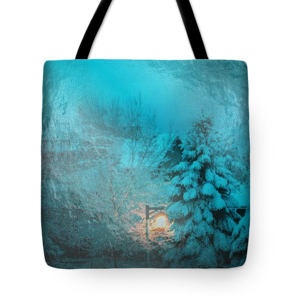 Light Tote Bag featuring the digital art Lighting The Way Through A Frosted Dream by Michael Hurwitz