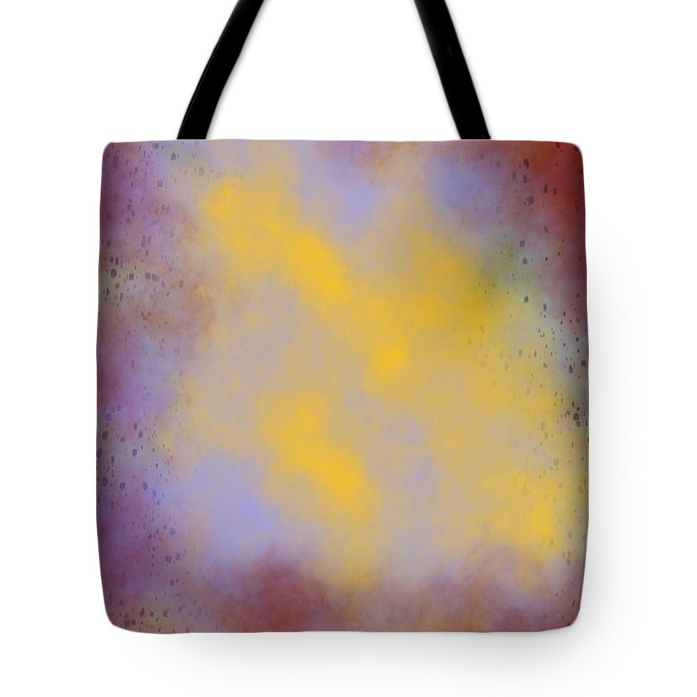 Abstract Tote Bag featuring the painting Lightness Within by Bill Minkowitz