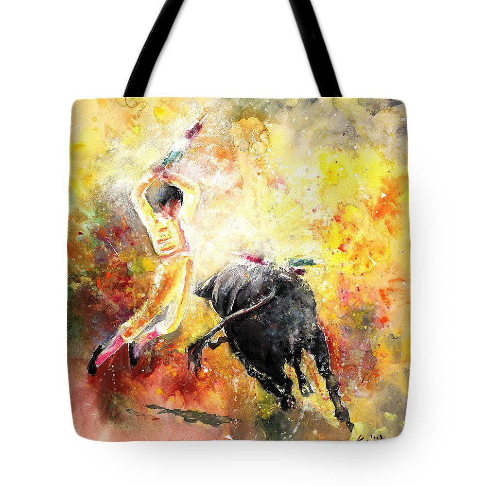 Animals Tote Bag featuring the painting Lightning Strikes by Miki De Goodaboom
