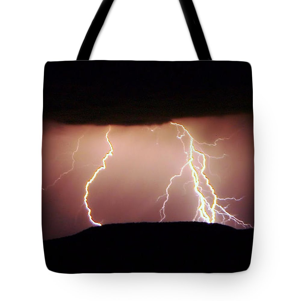 Lightning Tote Bag featuring the photograph Lightning Walking by Jeff Swan