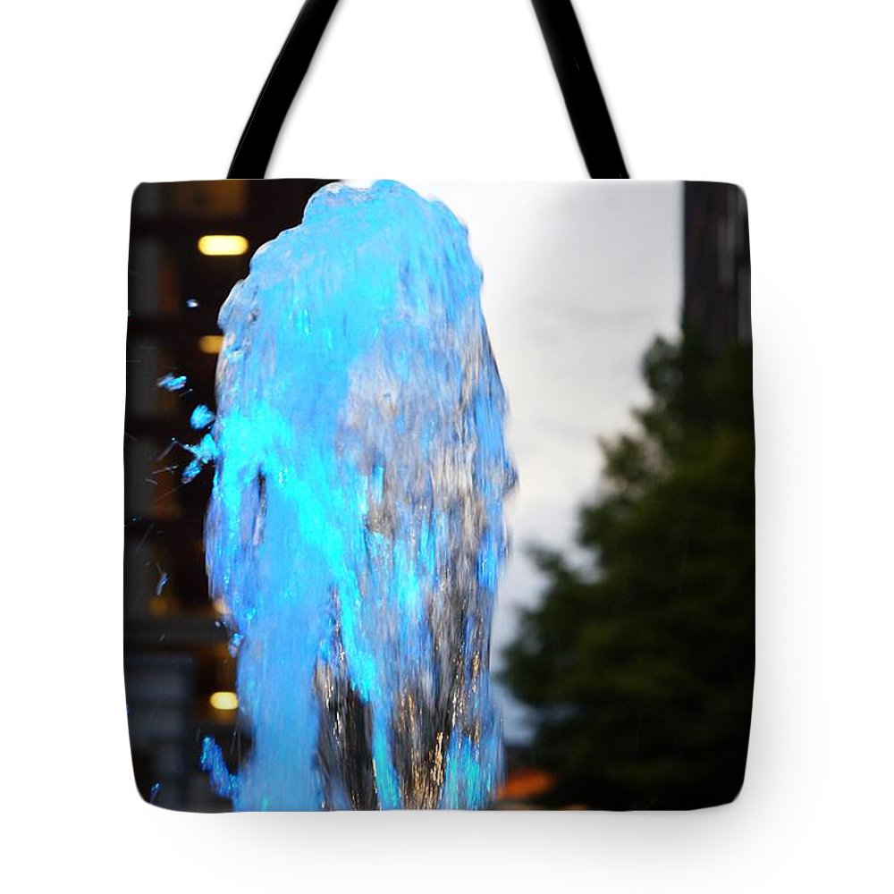 Baby Blue Tote Bag featuring the photograph Lights In The City by Jannice Walker