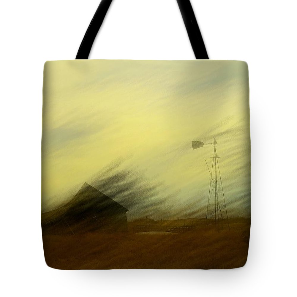Farmland Tote Bag featuring the photograph Like A Memory In The Wind by Jeff Swan