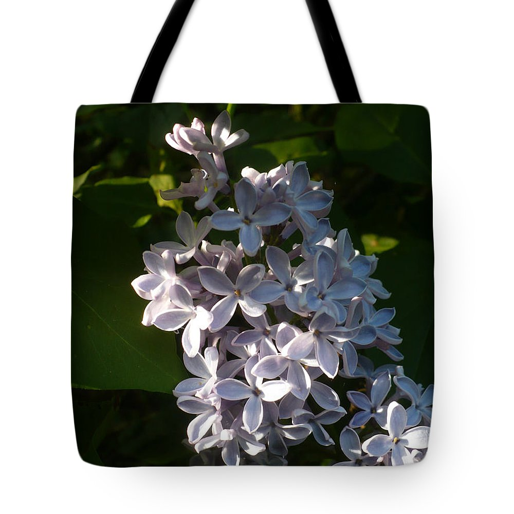 Lilac Tote Bag featuring the photograph Lilac Branch by Nicki Bennett