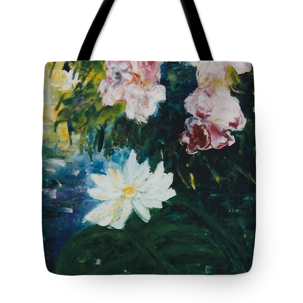 Lillie Tote Bag featuring the painting Lillie Pond by Lord Frederick Lyle Morris - Disabled Veteran