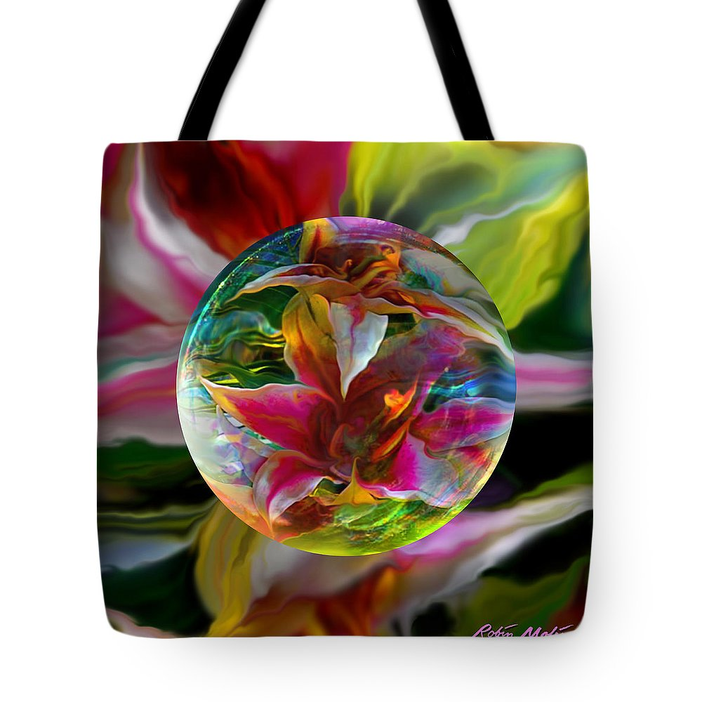 Art Globe Tote Bag featuring the painting Lillium Bulbiferum by Robin Moline