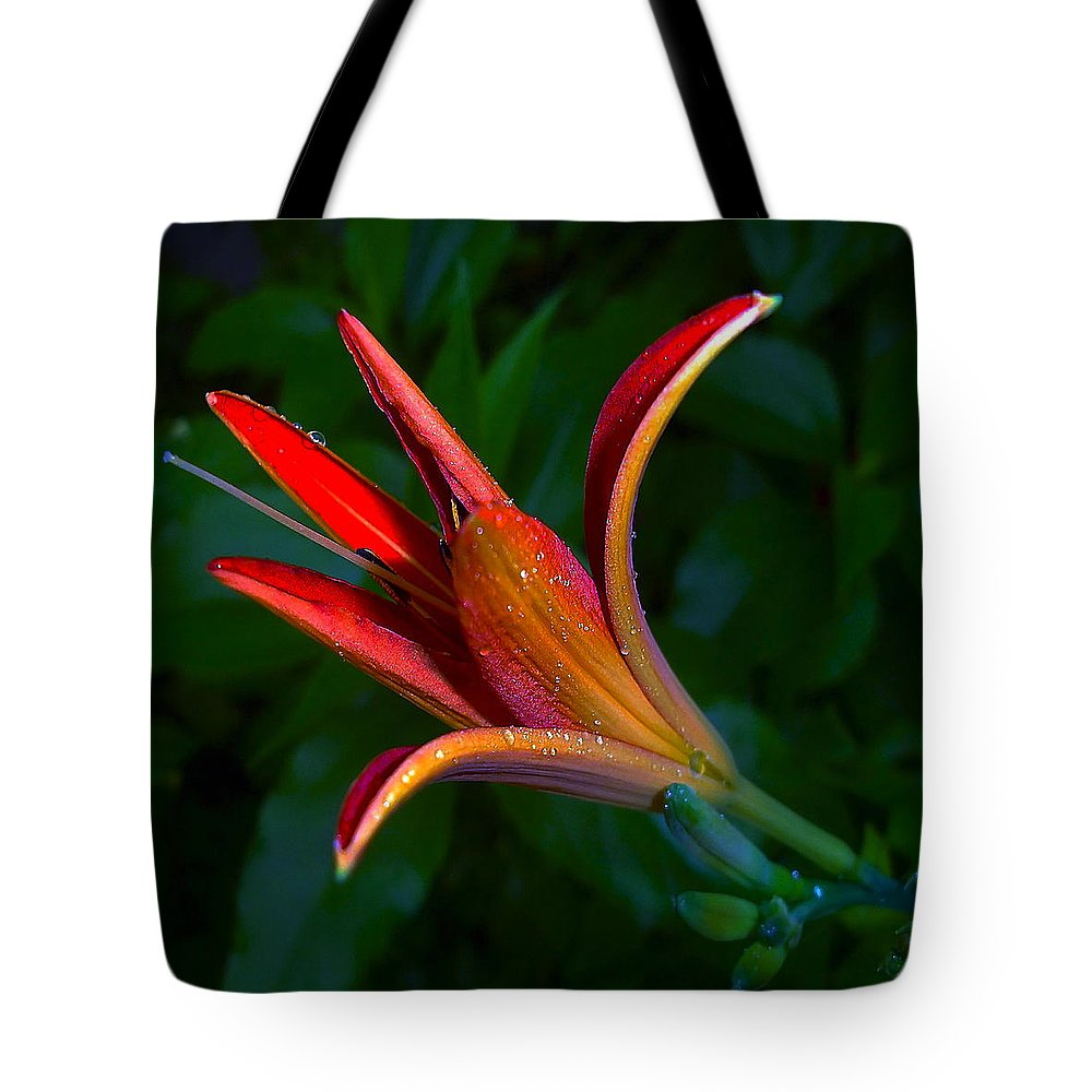 Lily Tote Bag featuring the photograph Lily 4 by Ingrid Smith-Johnsen