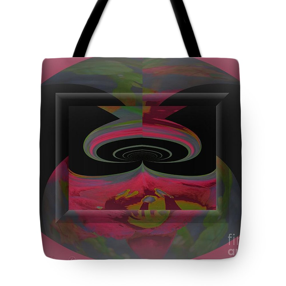 Lily Tote Bag featuring the photograph Lily Abstract by Gena Weiser