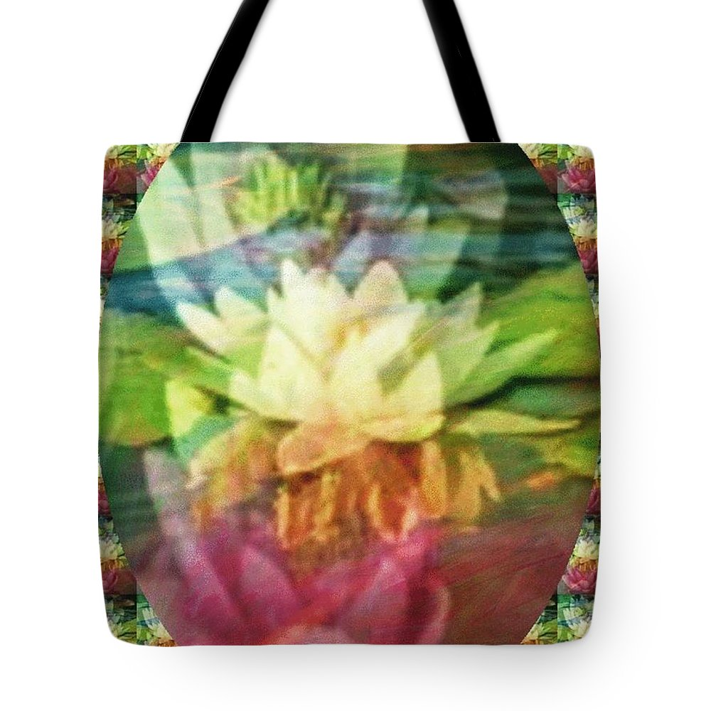 Lily Cards Tote Bag featuring the digital art Lily Birth by PainterArtist FIN