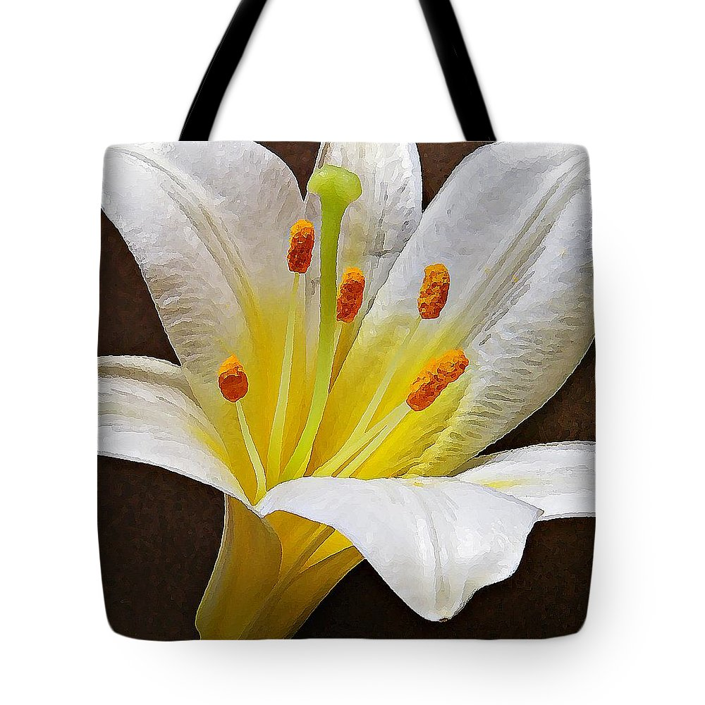 Nature Tote Bag featuring the photograph Lily by Chris Berry