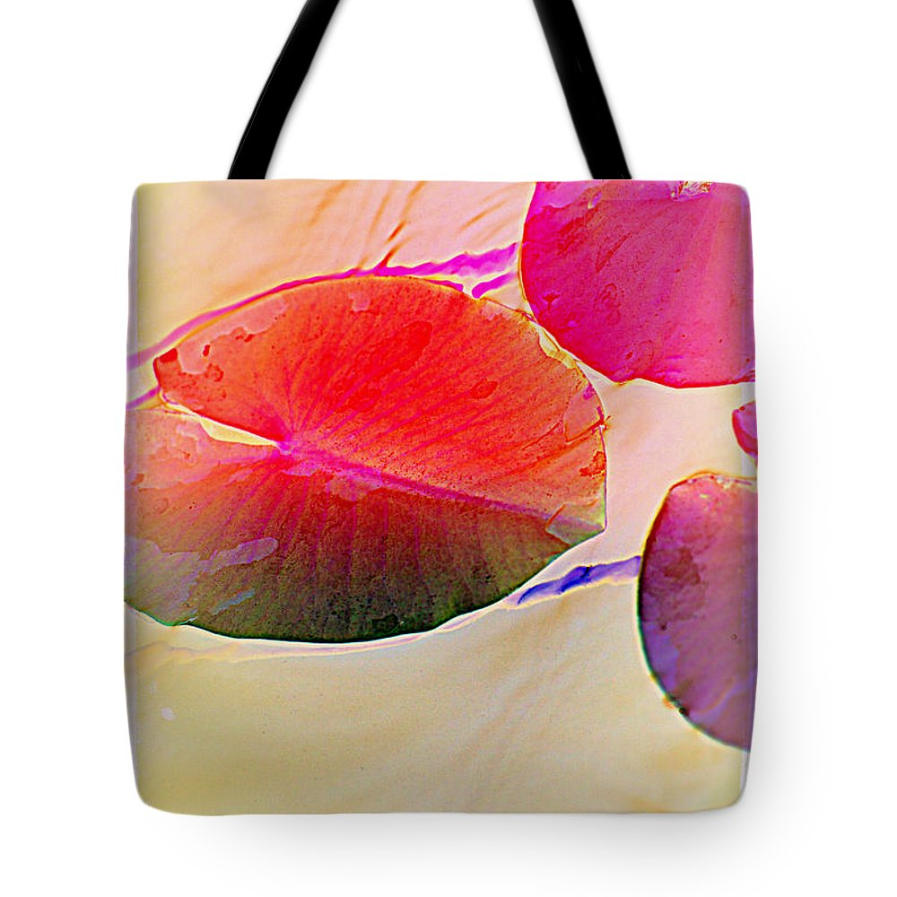 Pastel Pad Tote Bag featuring the photograph Lily Pad 2 by Susanne Van Hulst