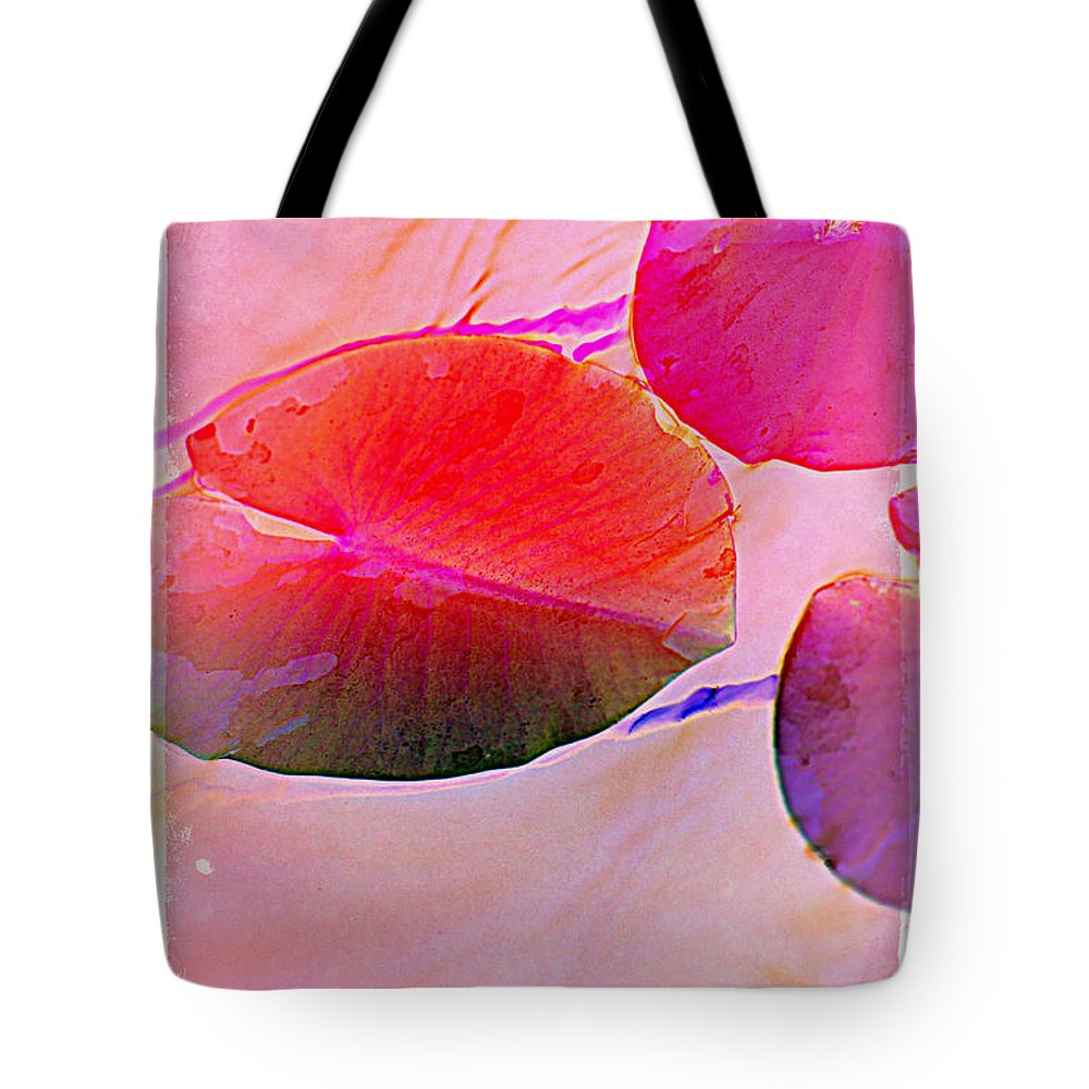 Pastel Pad Tote Bag featuring the photograph Lily Pad 3 by Susanne Van Hulst